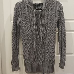 Moda International Sweaters - Cableknit tunic with hood